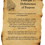 Principle 1: Definiteness of Purpose Starts with Who You Want to BE